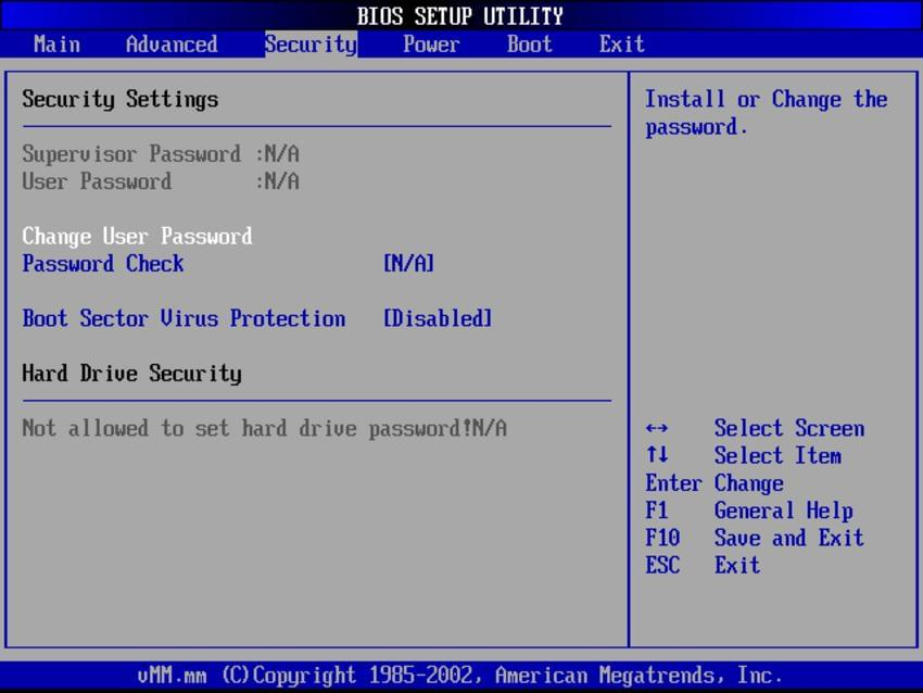 Поставим пароль на систему через BIOS